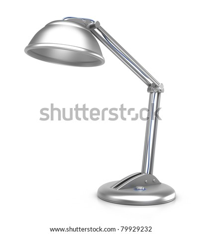 Table lamp, isolated