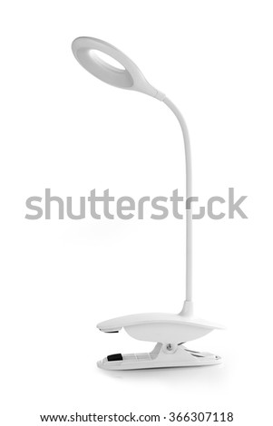 Table lamp isolated on white background
