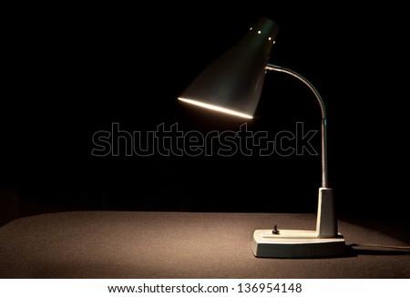 table lamp on a dark backround - stock photo