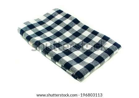 table linen on white background