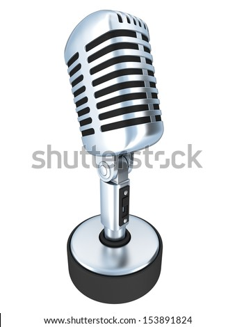 Table Microphone isolated (done in 3d)