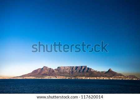 Table Mountain, Cape Town, South Africa - stock photo