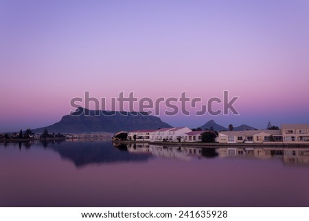 Table Mountain, South Africa - stock photo