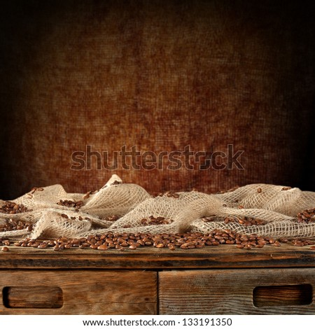 table of coffee - stock photo