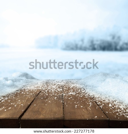 table of winter  - stock photo