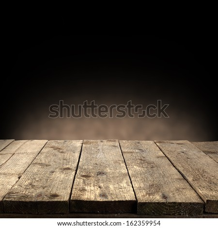table of wood  - stock photo