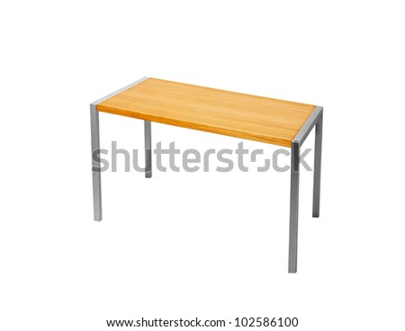 Table on white background - stock photo