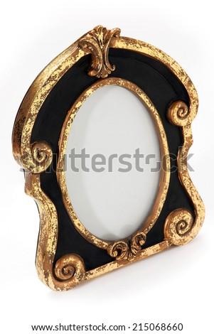 Table photo frame. - stock photo