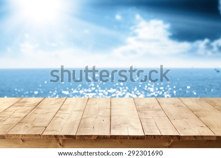 table place and sea  - stock photo