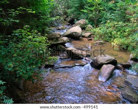Table Rock Mountain Stream - stock photo