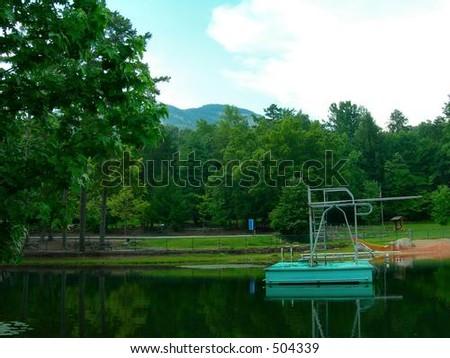 Table Rock Swimming Lake - stock photo