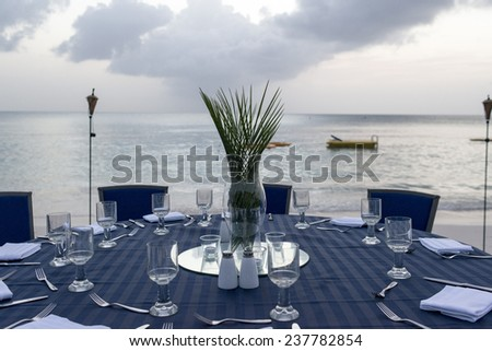 Christmas In Florida Quotes.Dinner On The Beach Miami Columbus In Usa