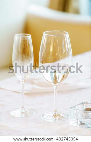 table set for meal - stock photo