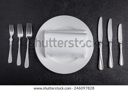 Table setting - stock photo