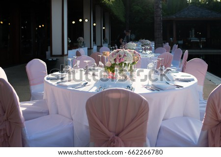 Table Setting Event Party Wedding Reception Stock Photo Royalty
