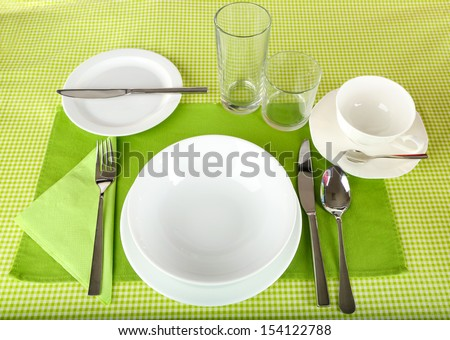 Image Table Setting. Table Setting Ideas Modern Table Setting Ideas ...