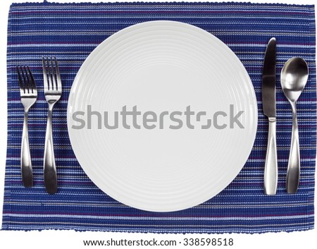 Table Setting - Isolated