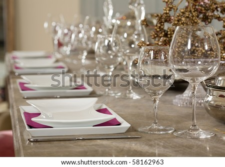 Table Setup Stock Images, Royalty-Free Images & Vectors | Shutterstock