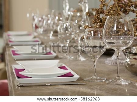 table setup - stock photo