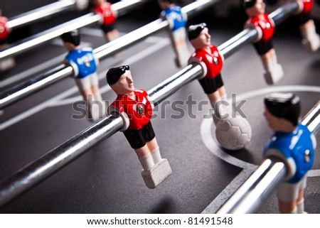 table soccer - stock photo