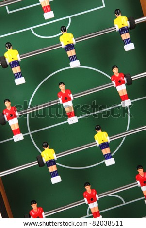 table soccer detail - stock photo