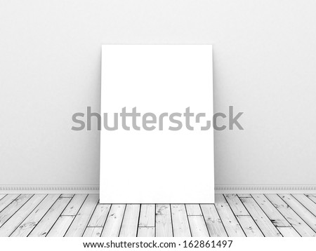 table standing next to wall, 3d