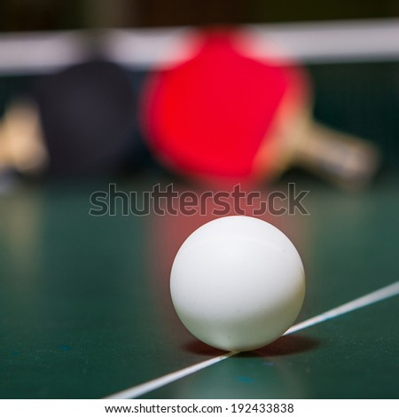table tennis and ping pong  - stock photo