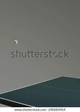 Table Tennis Ball Bouncing on Table