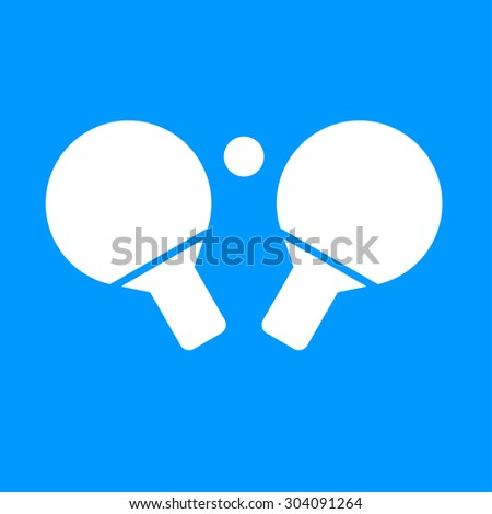Table tennis icon. Flat design style  - stock photo