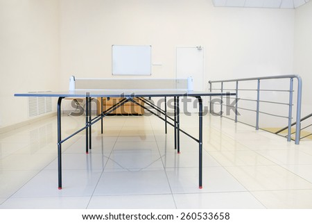 Table tennis in indoor - stock photo