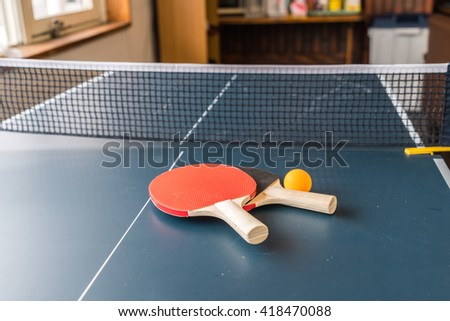 Table tennis or ping pong - stock photo