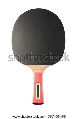 Table tennis racket isolated on white background