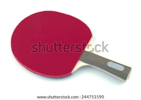 table tennis racket on white background - stock photo