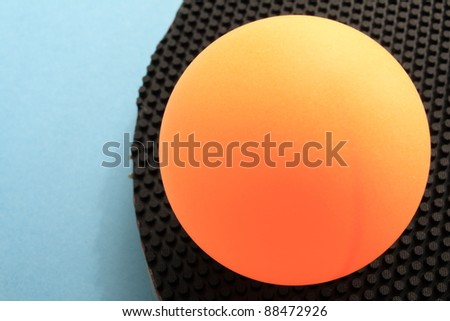 Table tennis, rubber for cutman and ball - stock photo