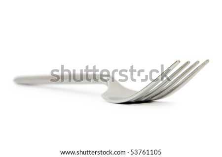 Table utensils isolated on the white background