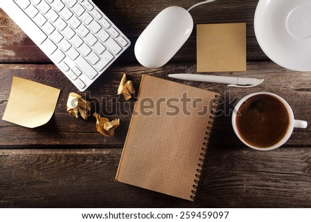 Table with business tools