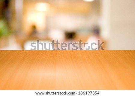 Table wooden in a business office - stock photo