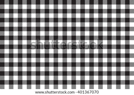 Tablecloth Background Black Seamless Pattern.Illustration Of Traditional  Gingham Dining Cloth With Fabric Texture.