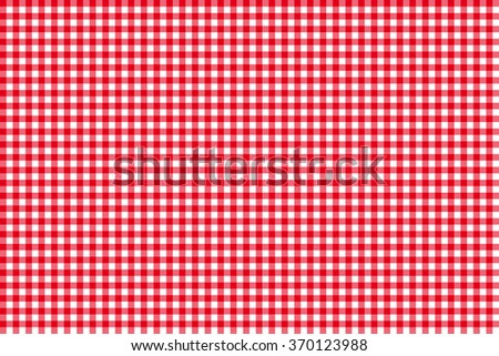 Tablecloth seamless pattern red illustration - stock photo