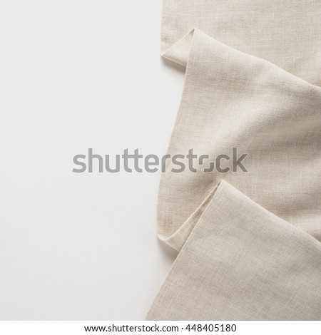 Tablecloth textile on white background