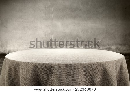tablecloth wall and free space for you  - stock photo