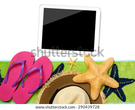 Tablet and beach accessories
