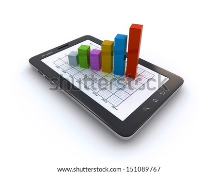 tablet and business graph