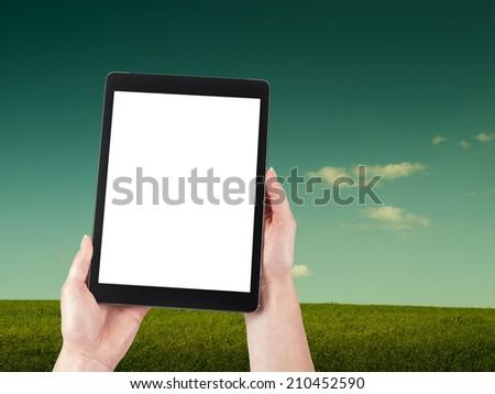 Tablet and meadow