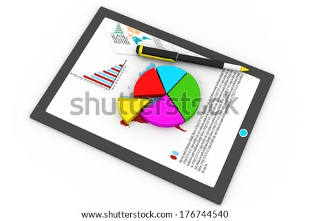Tablet computer and financial charts