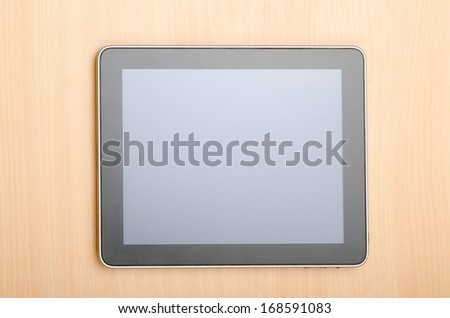 Tablet computer in technology concept