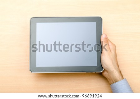 Tablet computer in technology concept - stock photo