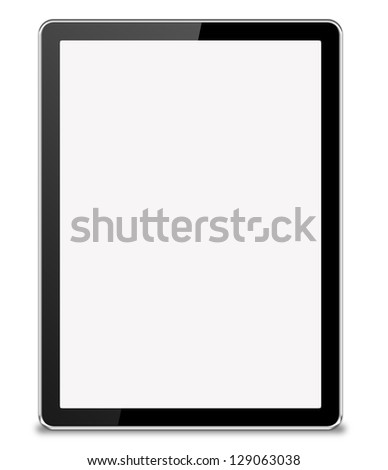 tablet computer isolated - stock photo
