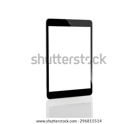 tablet computer isolated on white background - stock photo
