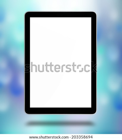 tablet computer like ipade pc, isolated on the white background      - stock photo